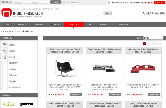 Realizzazione siti internet sviluppo siti web for Sito web di mobili di design