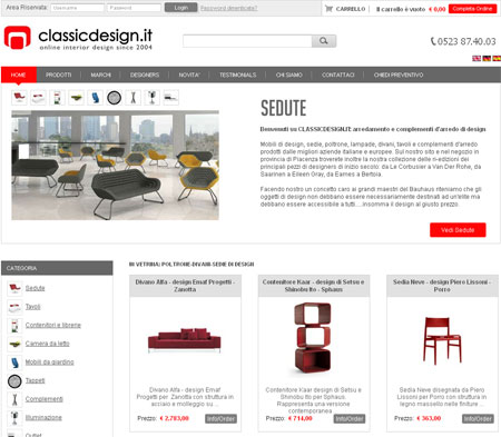 sviluppo siti ecommerce mobili e arredamento
