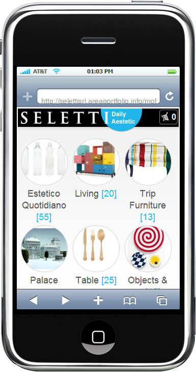 sito ecommerce mobile